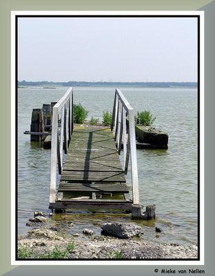 Pier in lake