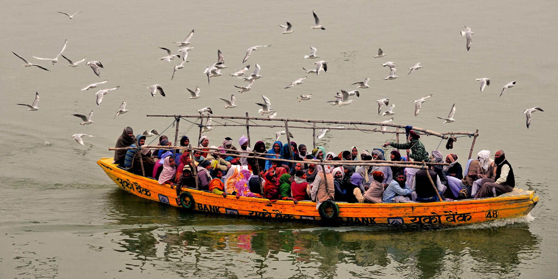 Pilger auf dem Ganges