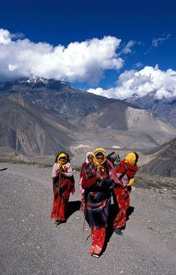 Pilger auf dem Weg nach Muktinath