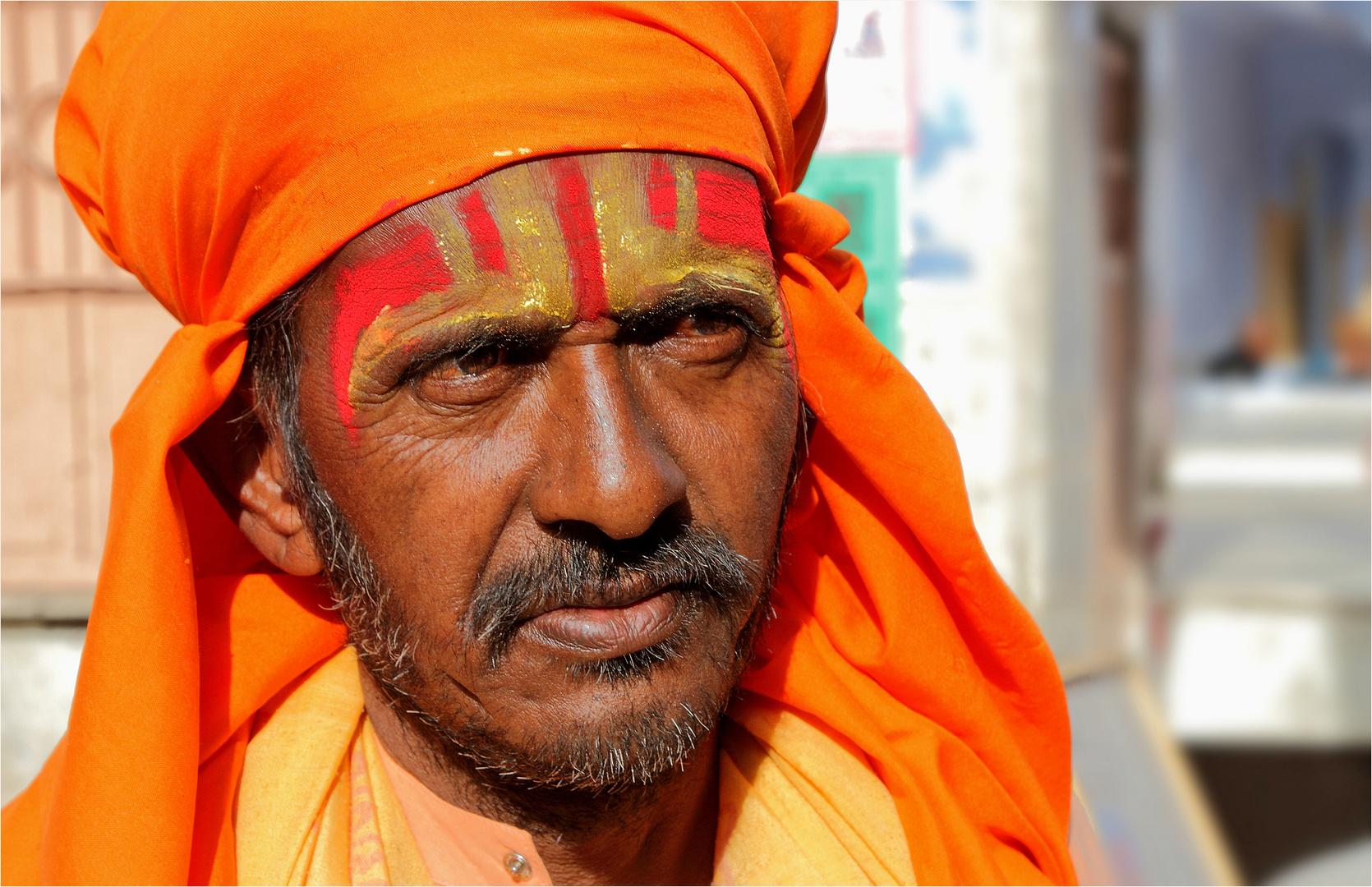 Pilger zum Brahma-Tempel in Pushkar
