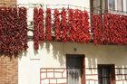 Pimientos secando en Lodosa (Navarra)