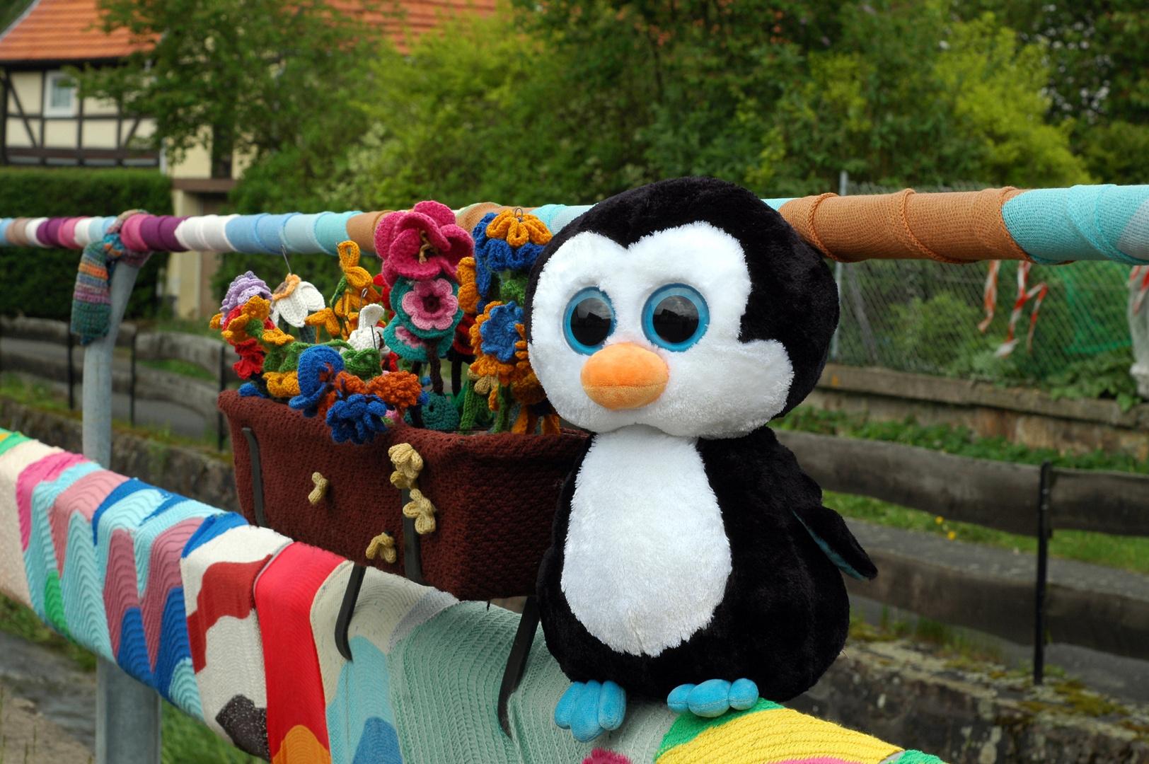 Pinguin auf der Stange