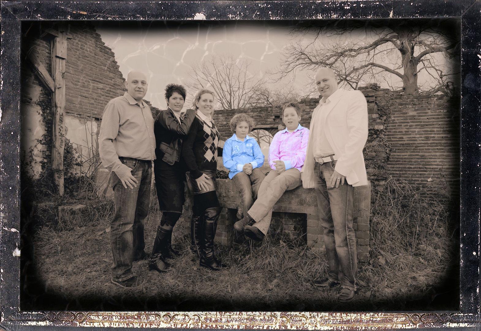 pink , bleu , altes foto , Ron Rensink , Wendy , Linda