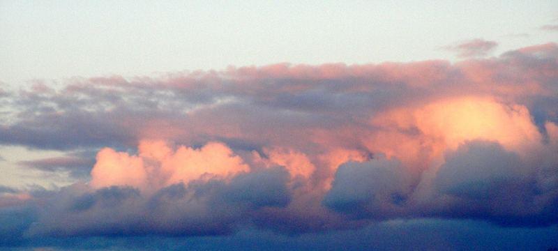 Pink sky..
