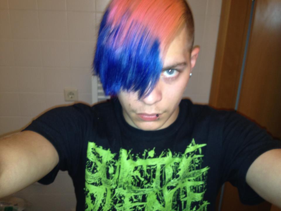 Pink/Blau