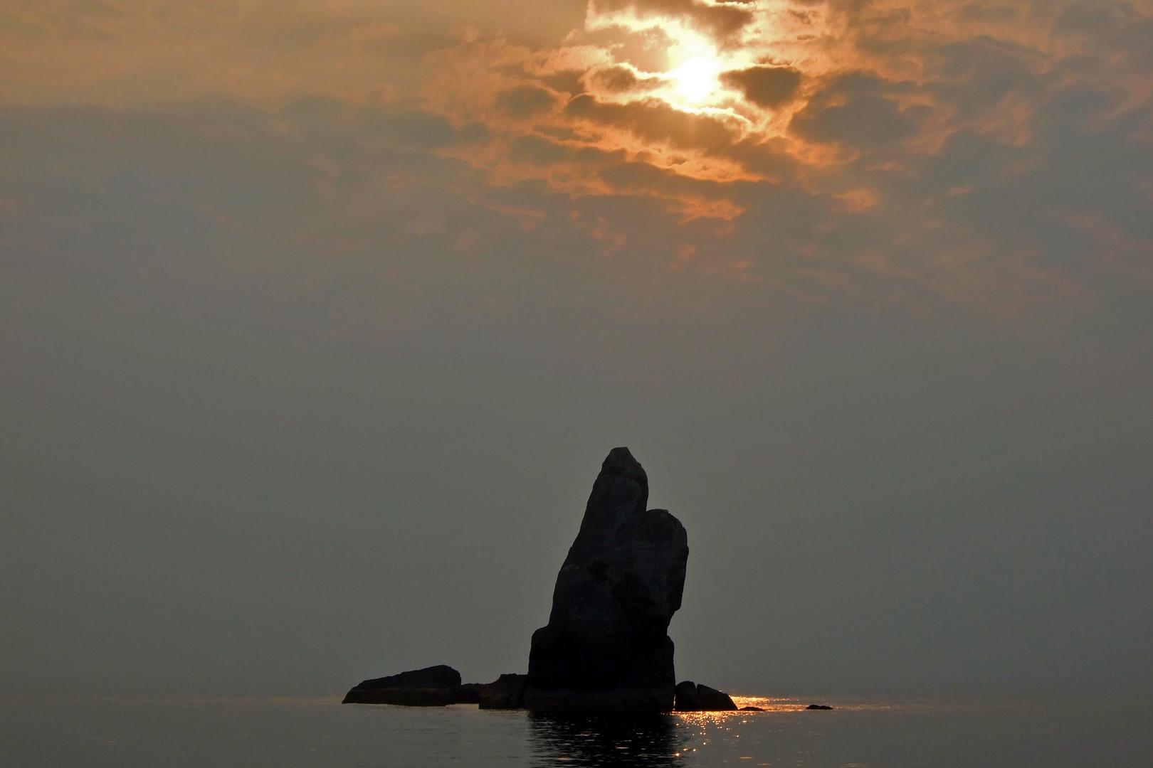 Pinnacle island at the Mergui Archipelago in Myanmar