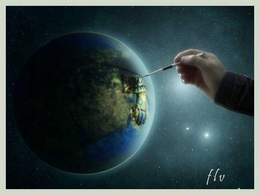 pintando aldaba en el mundo