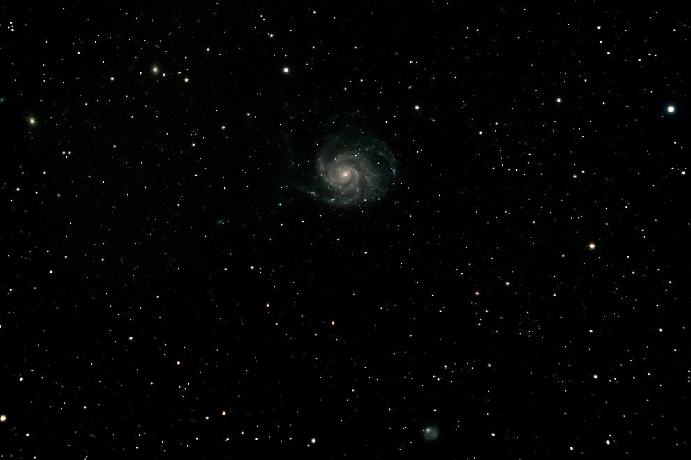 Pinwheel- oder Feuerrad- Spiralgalaxie M101 im Sternbild Großer Bär