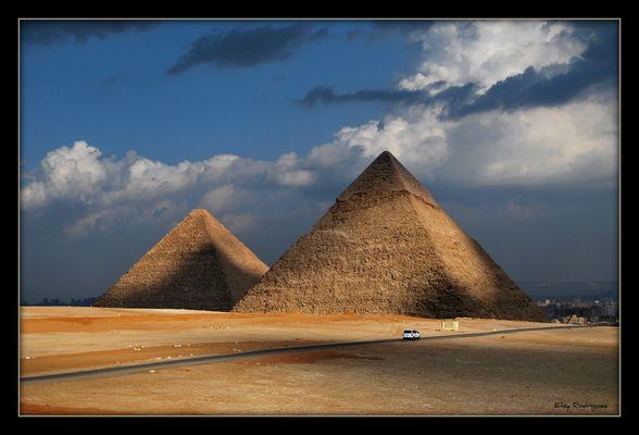 Pirámides de Kefrén y Keops