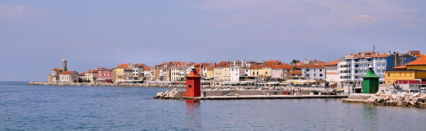 Piran - Panorama der Stadt