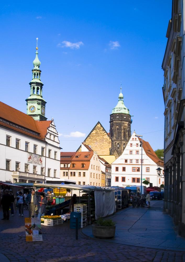 Pirna - Blick über den Markt
