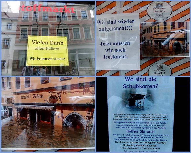 Pirna nach dem Hochwasser 2013