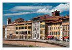 Pisa - Häuserfassaden am Arno-Ufer