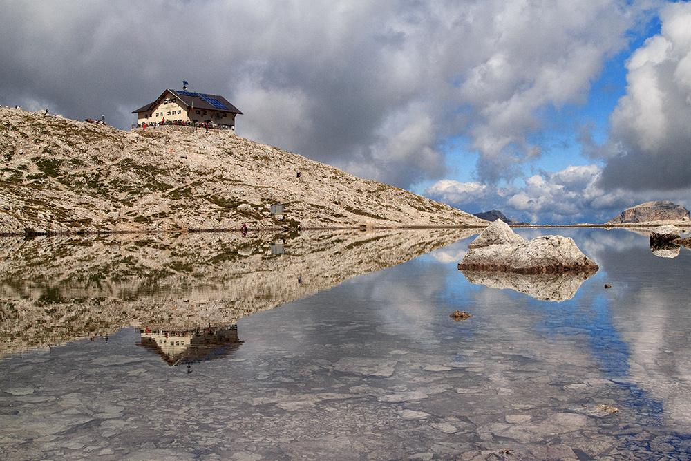 Pisciadu See und Hütte