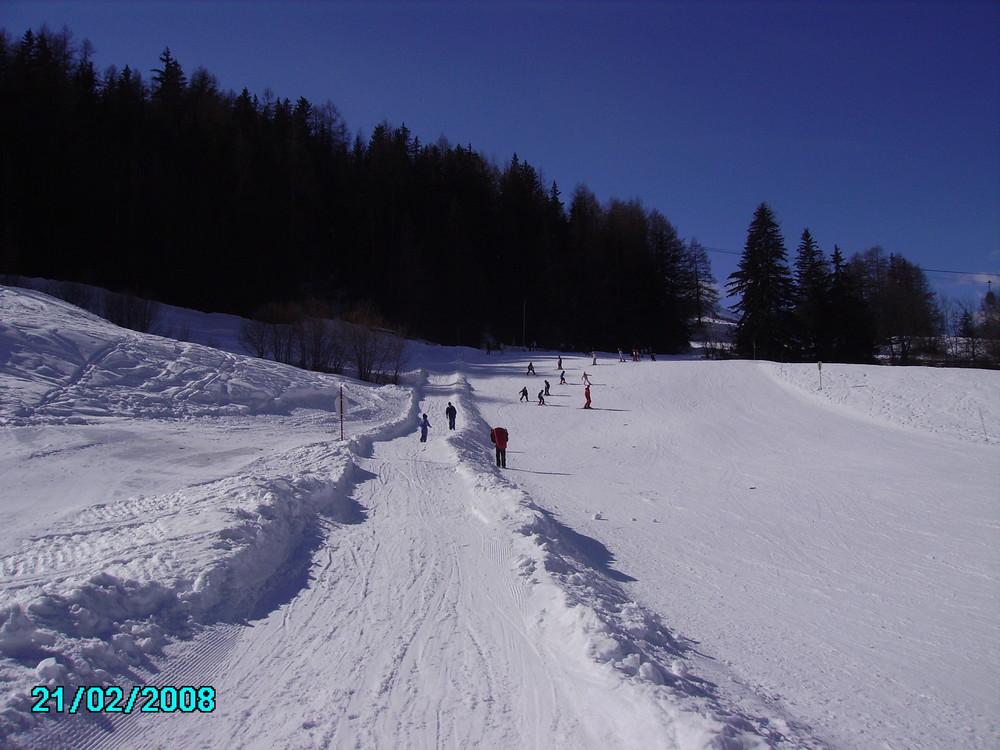 Pistes de luges et de skis à Lanslevillard