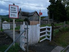 Pitlochry Bahnübergang