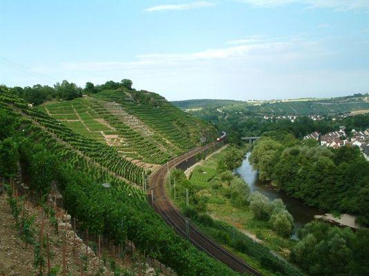 Pittoreske Kulturlandschaft in Besigheim am Neckar
