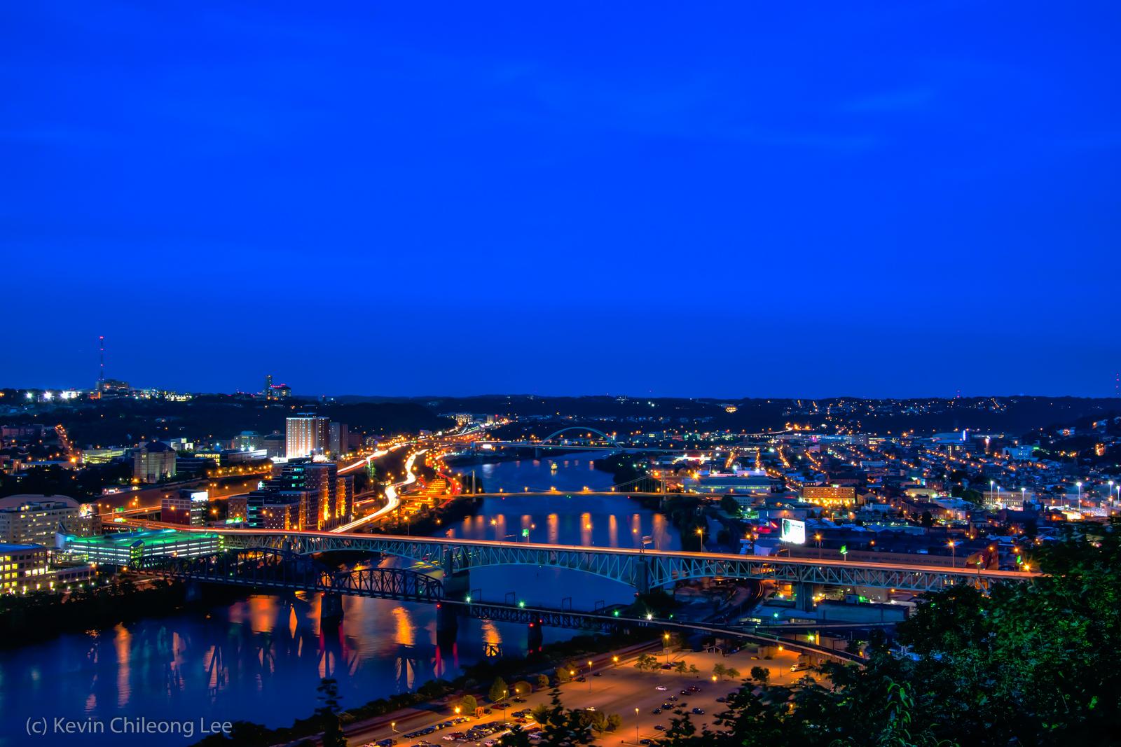 Pittsburg bei Nacht