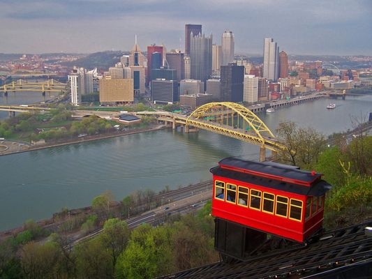 Pittsburgh PA, Duquesne Incline