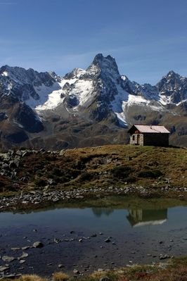 Pitztaler Alpen - Luibisalm im Hintergrund die Rofelewand