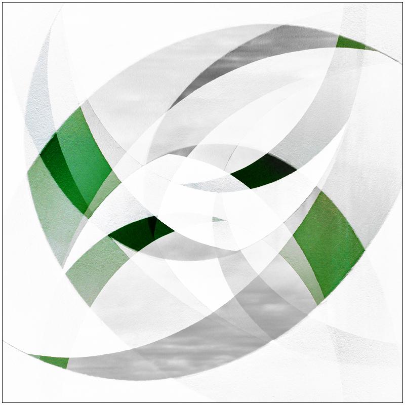 Pixelspielerei mit grün