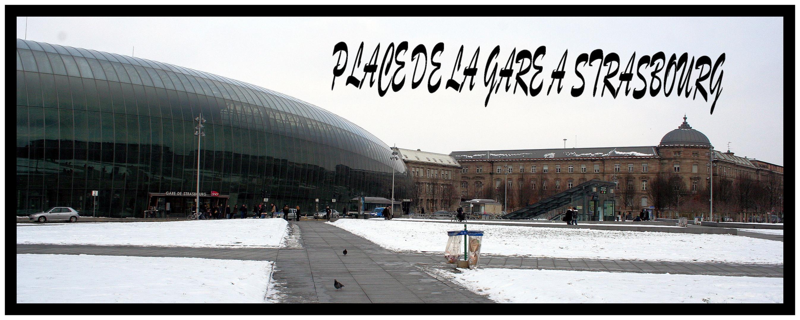 place de la gare a strasbourg