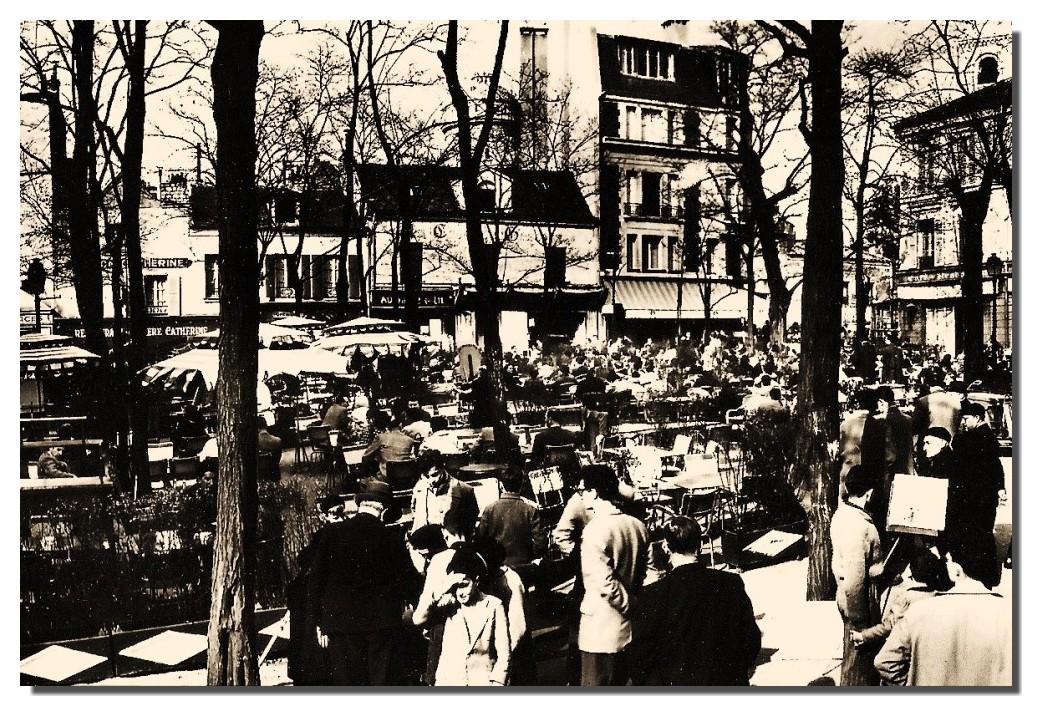 PLACE DU TERTRE EN 1950