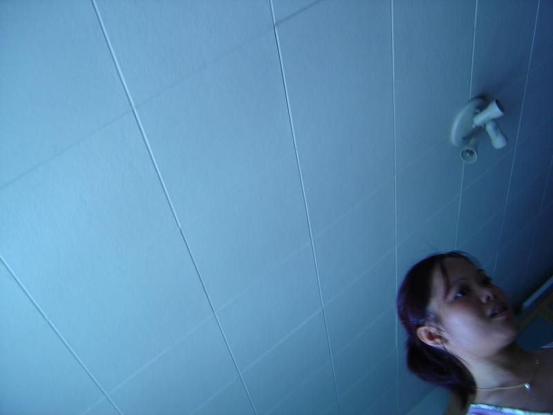 Plafond bleu