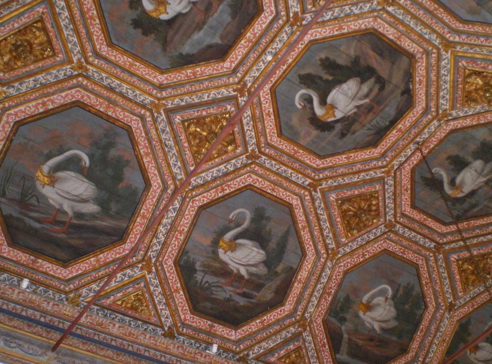 Plafond décoré du Palais Royal de Sintra