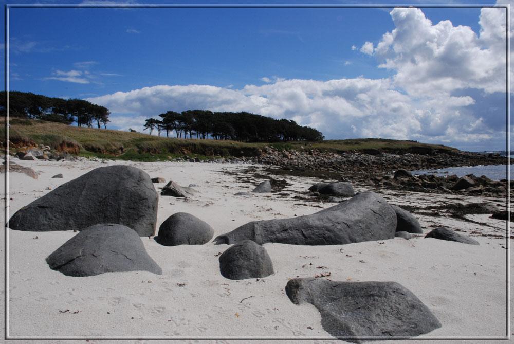 plage à l'ile de Batz