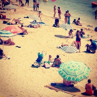 plage d'Antibes - vue vintage