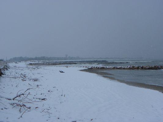Plage de Vias sous la neige