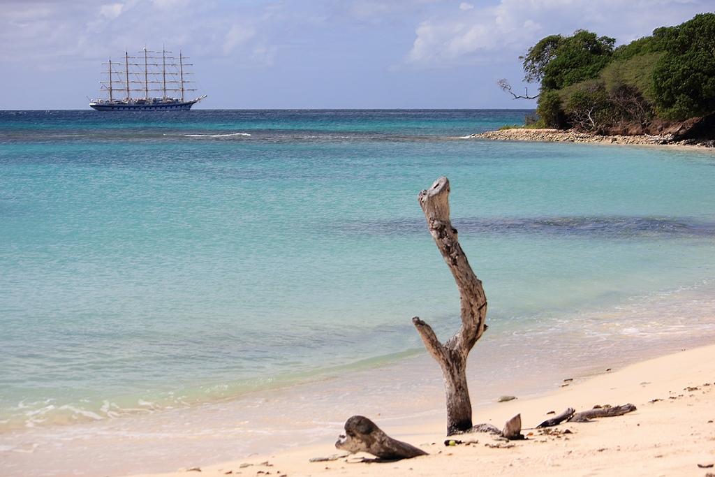 plage sur l'ile Union