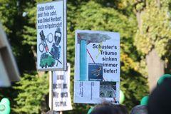 Plakat IM RECH und OB Schuster Stuttgart Demo 9.10