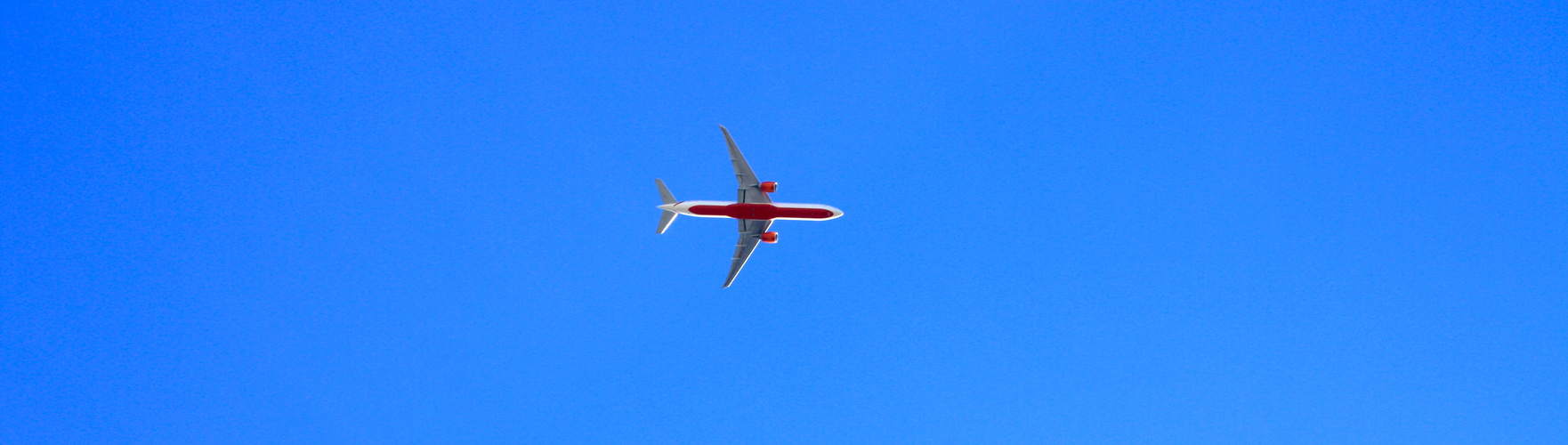 plane in a blue sky
