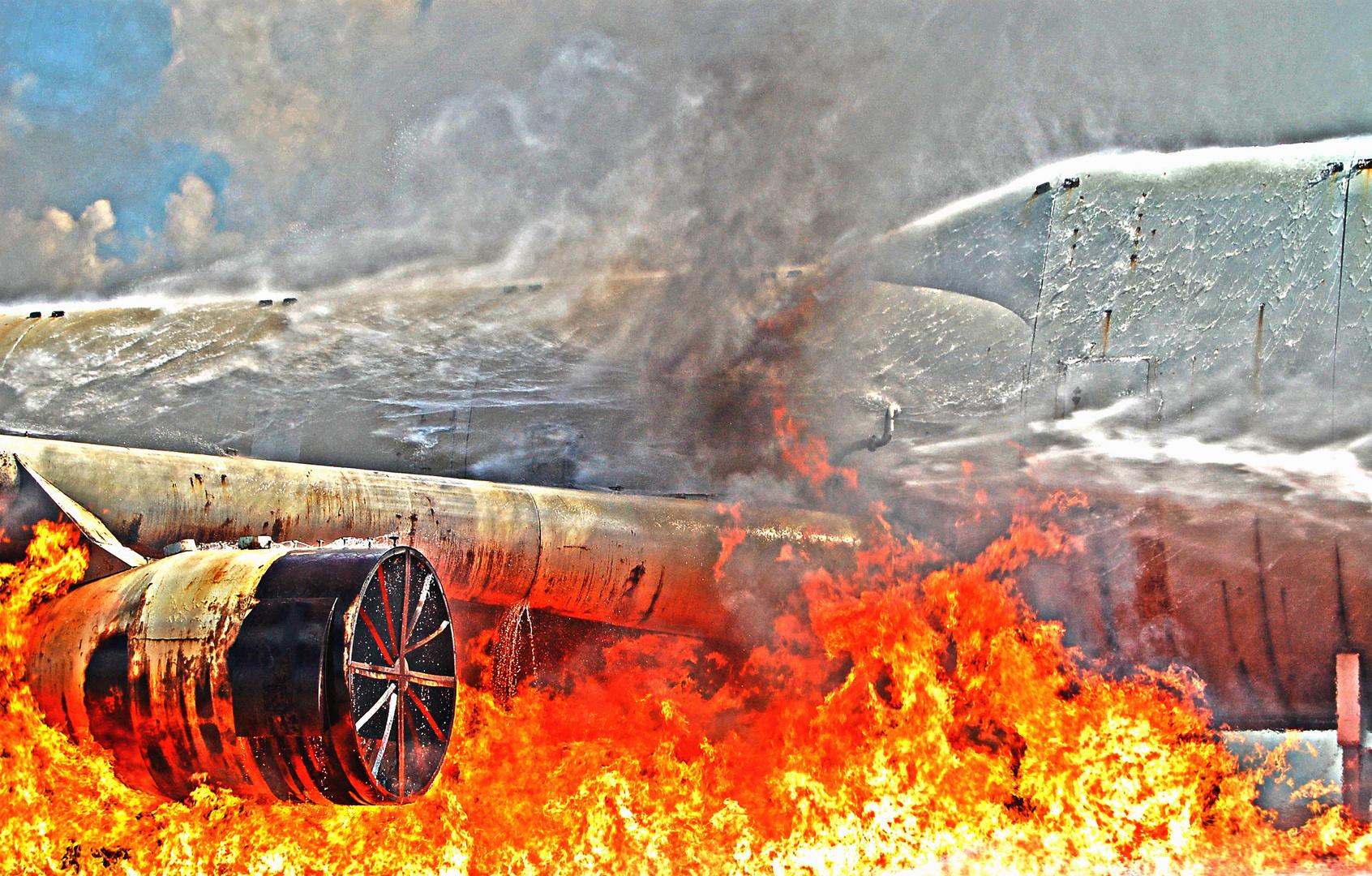 Plane on fire II