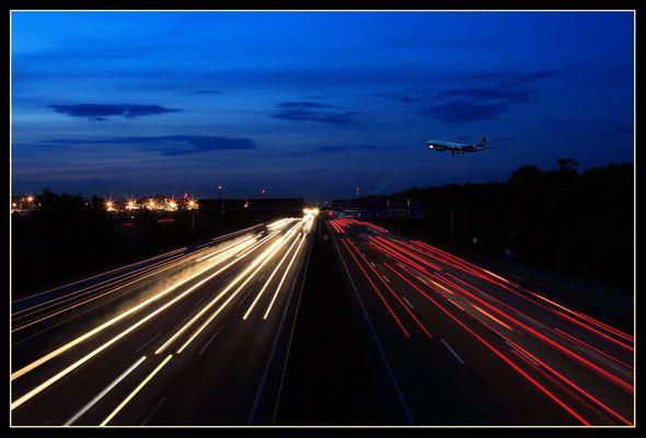 Plane-spotting über der A5