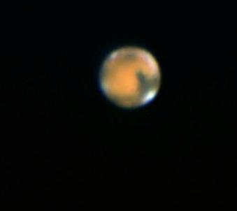 Planet Mars am 19.04.2014 23:30 MESZ