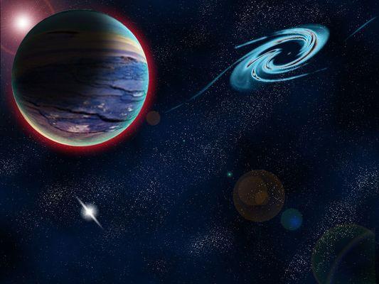 Planetenbild des Universums