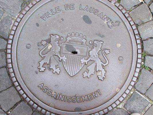 plaque d'egout de Lausanne