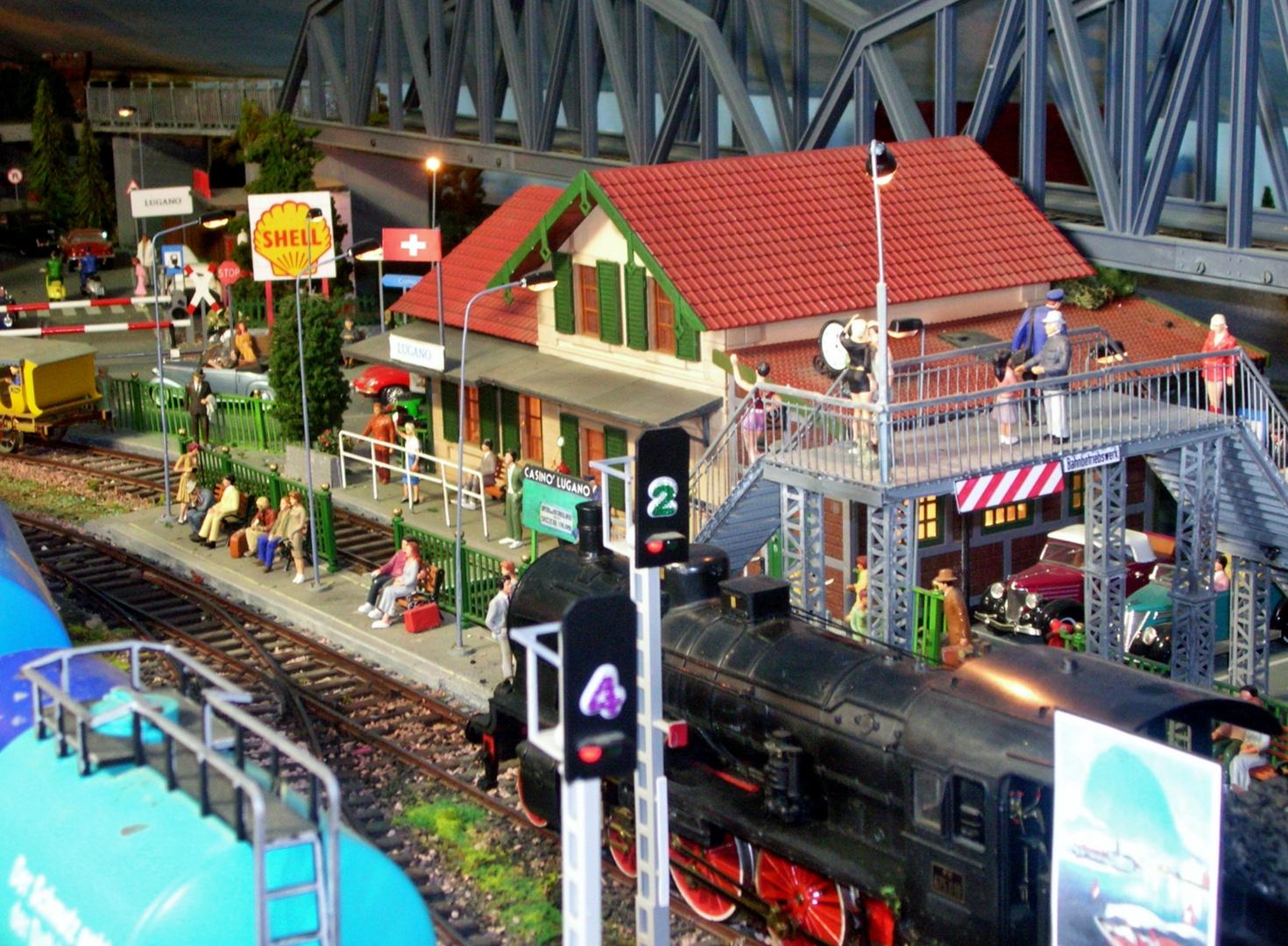 Plastico ferroviario Lugano 1940 scala 1 : 32