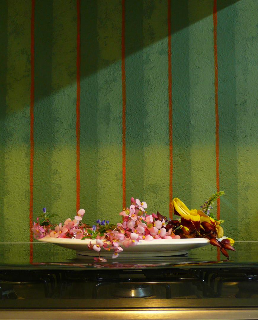 Plato con Flores