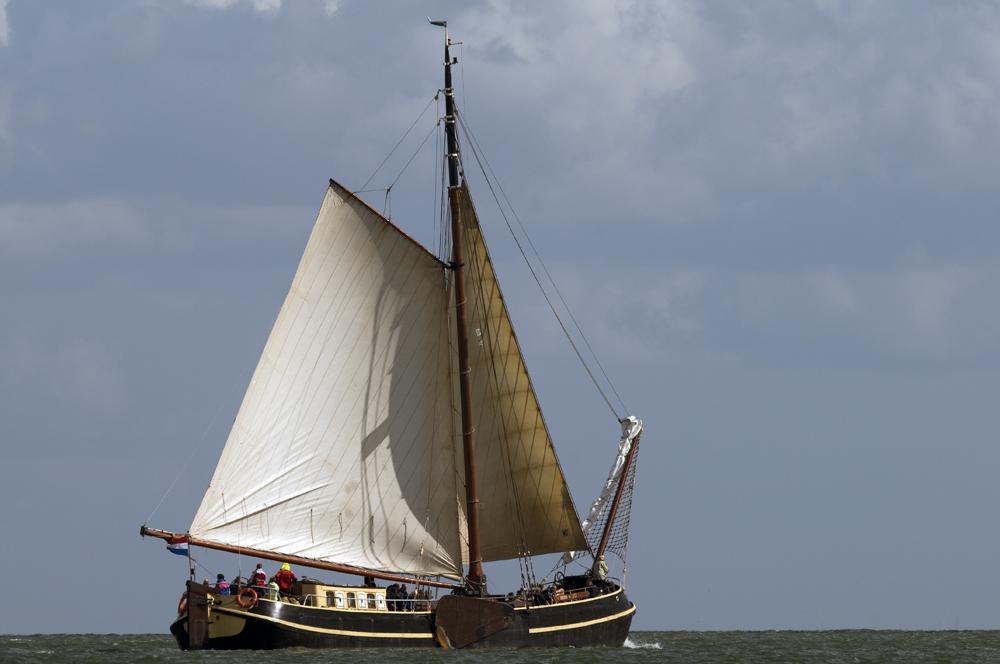 Plattbodenschiff im Ijsselmeer