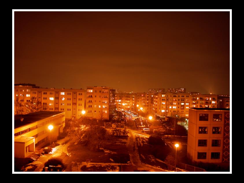 Platte bei Nacht