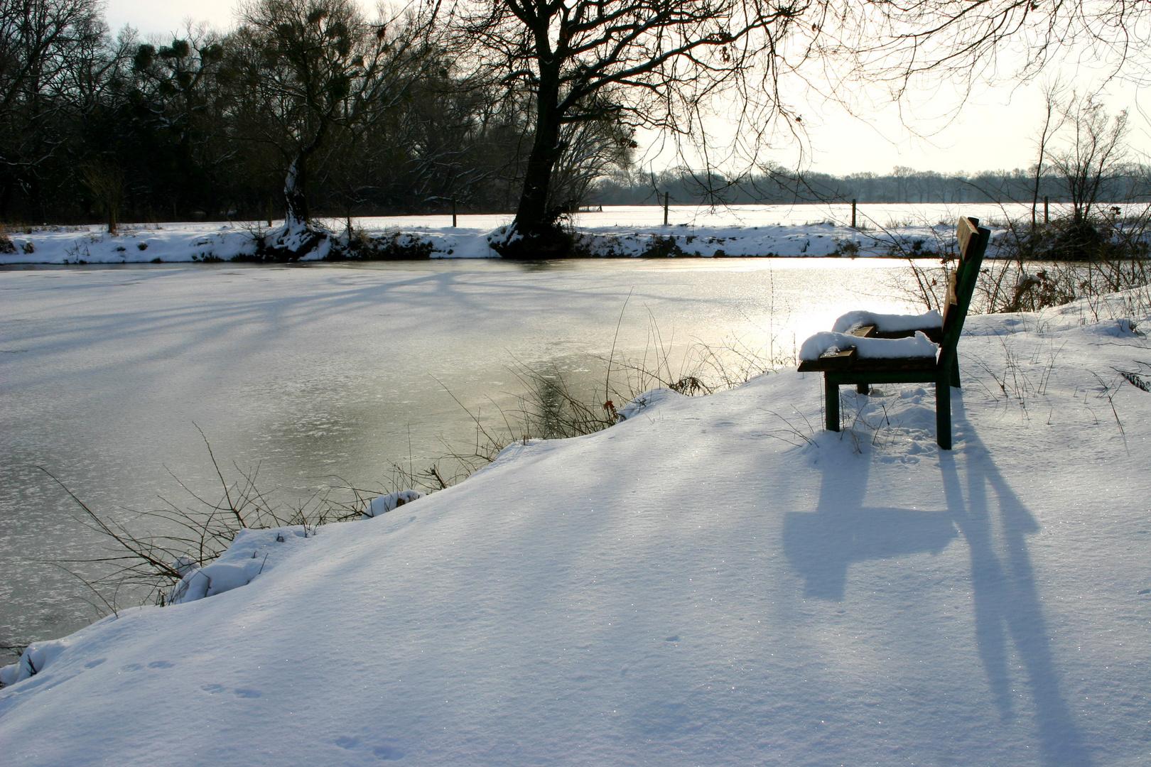 Platz im Schnee