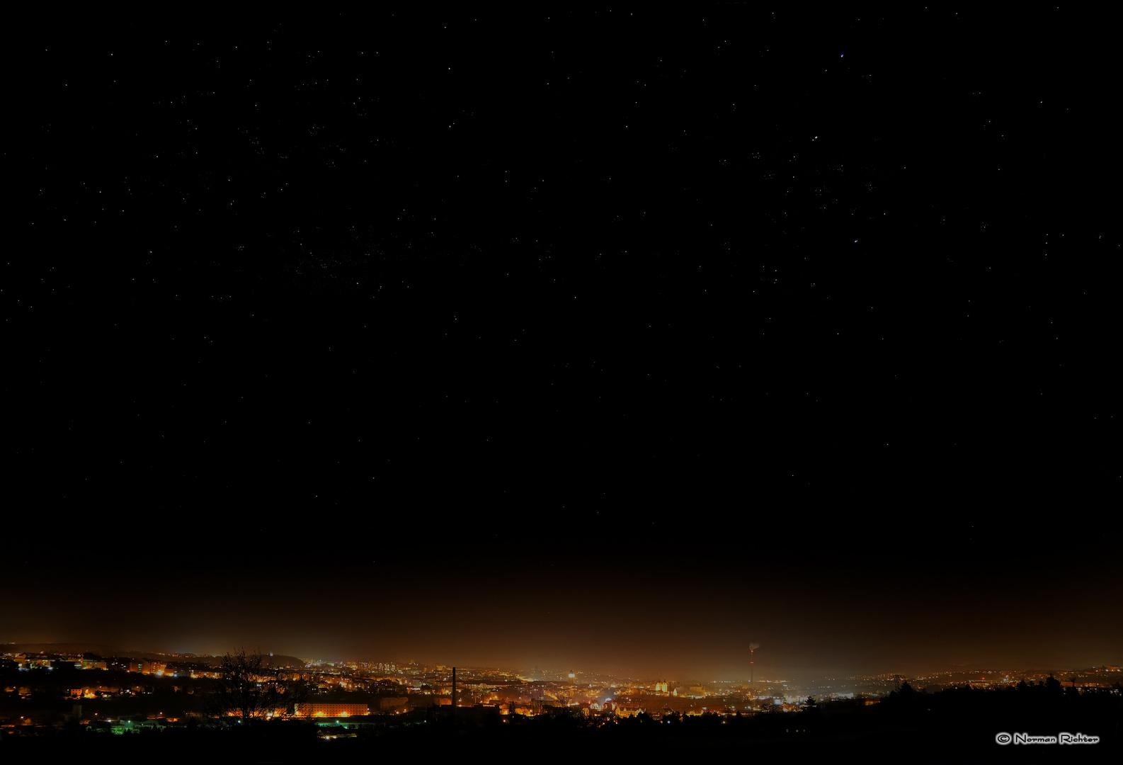 Plauen bei Nacht