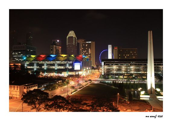 Play of colors at Suntec City