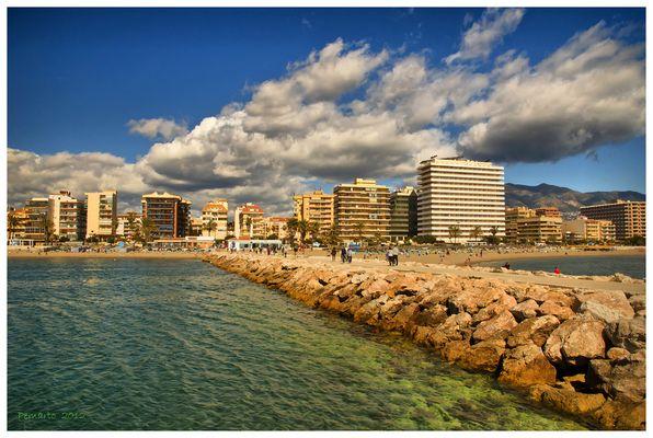 Playa de Fuengirola. Málaga. Dedicada a Ana Iglesias