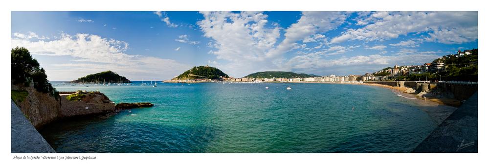 Playa de la Concha Donostia ( San Sebastian ) Guipúzcoa