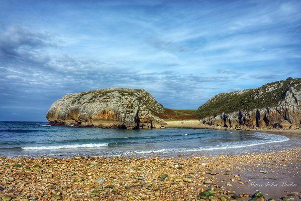Playa de las Cuevas. Asturias Espan?a
